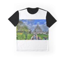 Sacre Couer with greenery .. HDR Graphic T-Shirt