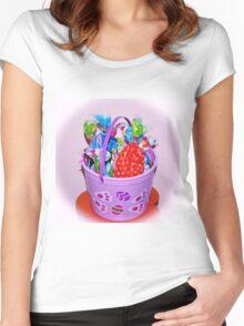 Easter Bucket Treats Women's Fitted Scoop T-Shirt