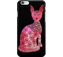 Sleek pink cat  iPhone Case/Skin