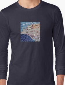 Gallipoli Puglia Italy Mosaic Long Sleeve T-Shirt