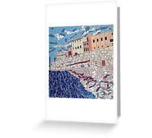 Gallipoli Puglia Italy Mosaic Greeting Card