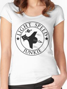 Light speed junkie Women's Fitted Scoop T-Shirt