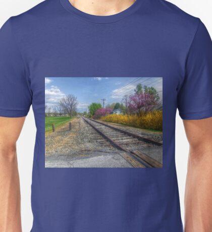Springtime Along The Tracks Unisex T-Shirt
