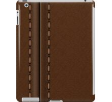 Brown stitched leather automotive textures and materials iPad Case/Skin