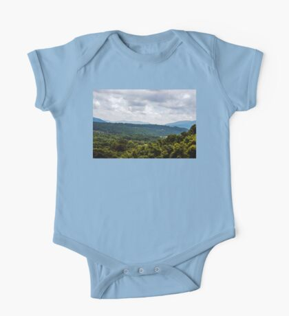 Trees and Mountains on High One Piece - Short Sleeve