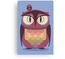 THE SAT UPON OWL Canvas Print