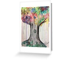 Splashing tree Greeting Card
