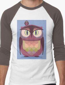 THE SAT UPON OWL Men's Baseball ¾ T-Shirt