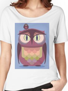 THE SAT UPON OWL Women's Relaxed Fit T-Shirt