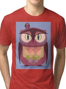 THE SAT UPON OWL Tri-blend T-Shirt