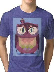 THE SAT UPON OWL Tri-blend T-Shirt