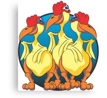 Three Chickens Canvas Print