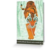 Tiger Conservation Greeting Card
