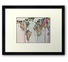 Color dripping world  Framed Print