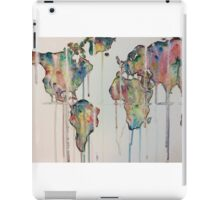 Color dripping world  iPad Case/Skin