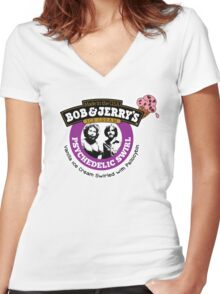 Bob and Jerry's Women's Fitted V-Neck T-Shirt