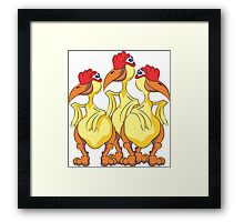 Three Chickens - #3 Framed Print