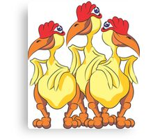 Three Chickens - #3 Canvas Print