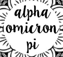 Alpha Omicron Pi Mandala Sticker