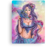 beautiful girl fantasy with fan Canvas Print