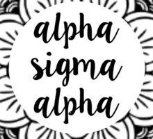 Alpha Sigma Alpha Mandala Sticker