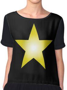 Gold Star Chiffon Top