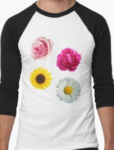 Flowers Set Men's Baseball ¾ T-Shirt
