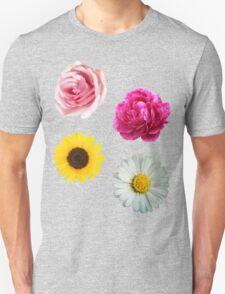 Flowers Set Unisex T-Shirt
