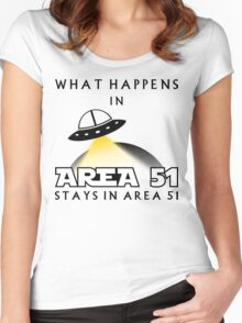 It stays in Area 51 Women's Fitted Scoop T-Shirt