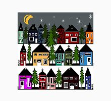 WINTERS NIGHT IN SMALL VILLAGE Unisex T-Shirt