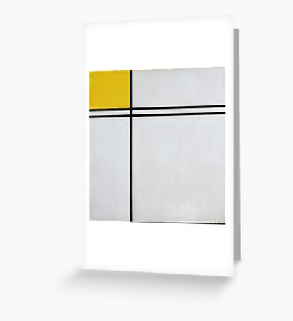 Piet Mondrian Dutch,  Composition with Double Line and Yellow  Greeting Card