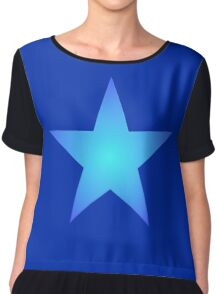 Blue Star Chiffon Top