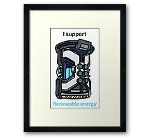 I Support Renewable Energy Framed Print