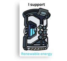 I Support Renewable Energy Canvas Print