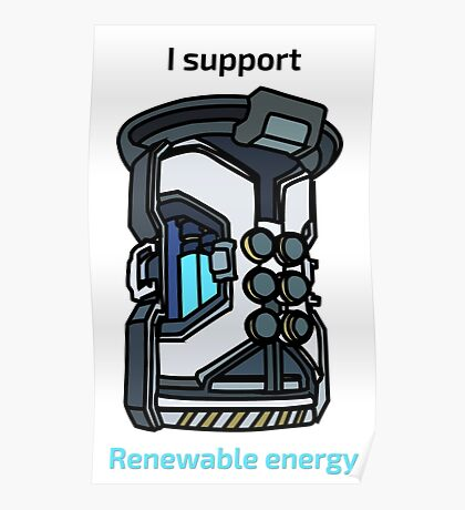 I Support Renewable Energy Poster