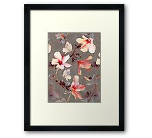 Coral Hibiscus Framed Print