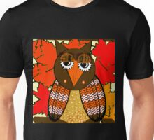 AUTUMN LEAVES AND MR. OWL Unisex T-Shirt