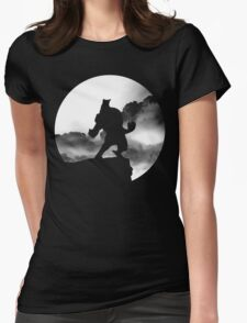 Lycan on the Edge Womens Fitted T-Shirt