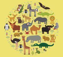 African animals One Piece - Short Sleeve