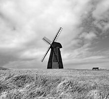 Rottingdean Windmill (Black & White) by JLaverty
