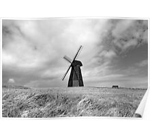 Rottingdean Windmill (Black & White) Poster