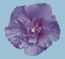 Purple hibiscus flower Kids Tee