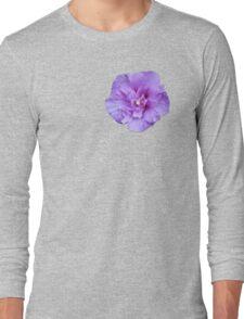 Purple hibiscus flower Long Sleeve T-Shirt