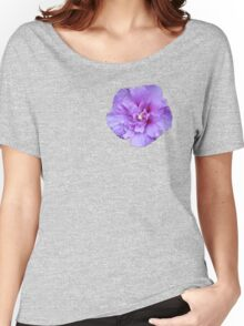 Purple hibiscus flower Women's Relaxed Fit T-Shirt