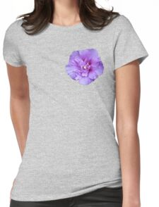 Purple hibiscus flower Womens Fitted T-Shirt