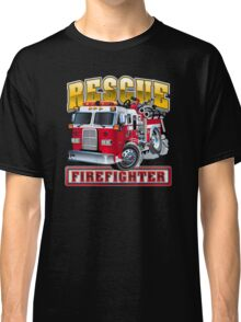 Vector Cartoon Fire Truck Classic T-Shirt