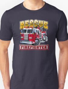 Vector Cartoon Fire Truck Unisex T-Shirt