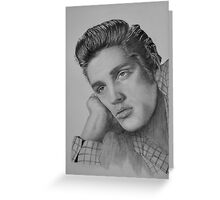 Elvis Presley Graphite Drawing Greeting Card