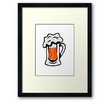 Drinking beer thirst handle Framed Print