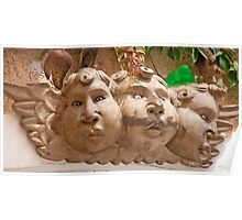 Plump Angel Faces Poster